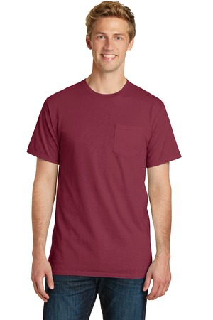 Port & Company PigmentDyed Pocket Tee.  PC099P