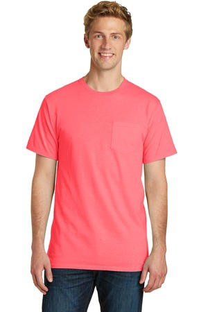 Port & Company Essential PigmentDyed Pocket Tee.  PC099P