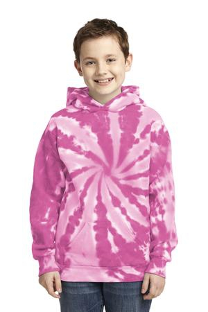 Port & Company Youth TieDye Pullover Hooded Sweatshirt. PC146Y