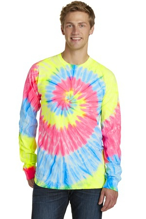 Port & Company TieDye Long Sleeve Tee.  PC147LS