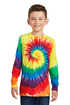 Port & Company Youth TieDye Long Sleeve Tee.  PC147YLS