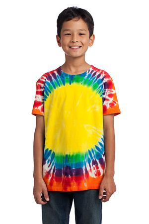 Port & Company  Youth Essential Window TieDye Tee. PC149Y