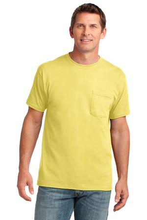 Port & Company Core Cotton Pocket Tee. PC54P