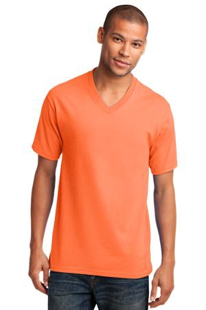 Port & Company Core Cotton VNeck Tee. PC54V