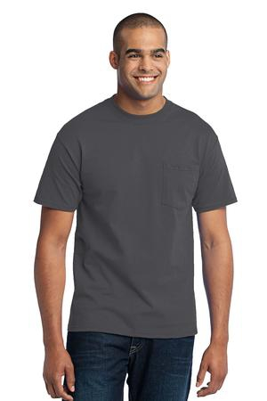 Port & Company  50/50 Cotton/Poly TShirt with Pocket. PC55P