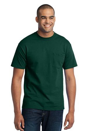 Port & Company  Core Blend Pocket Tee. PC55P