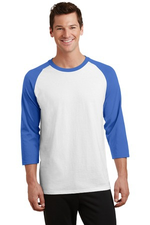 Port & Company Core Blend 3/4Sleeve Raglan Tee. PC55RS
