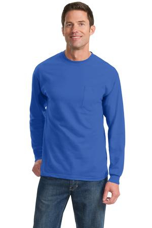 Port & Company  Long Sleeve Essential Pocket Tee.  PC61LSP