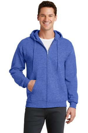 Port & Company  Core Fleece FullZip Hooded Sweatshirt. PC78ZH
