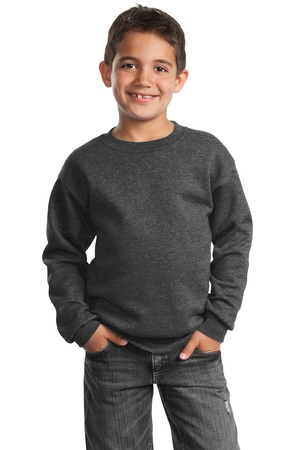 Port & Company  Youth Core Fleece Crewneck Sweatshirt.  PC90Y