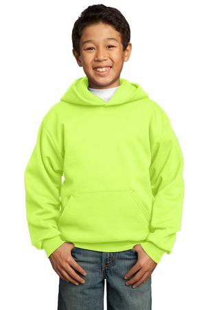 Port & Company  Youth Core Fleece Pullover Hooded Sweatshirt.  PC90YH