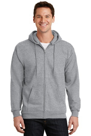 Port & Company   Essential Fleece FullZip Hooded Sweatshirt.  PC90ZH