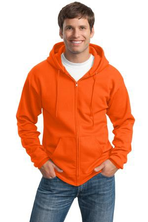 Port & Company Tall Essential Fleece FullZip Hooded Sweatshirt. PC90ZHT