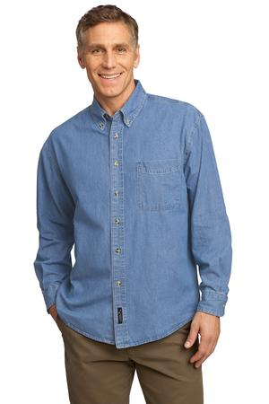 Port & Company  Long Sleeve Value Denim Shirt. SP10
