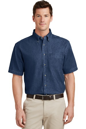 Port & Company  Short Sleeve Value Denim Shirt. SP11