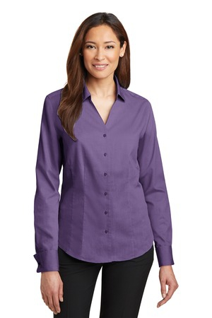 Red House  Ladies French Cuff NonIron Pinpoint Oxford Shirt. RH63