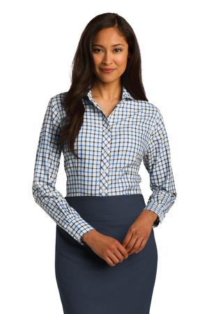 Red House Ladies Tricolor Check NonIron Shirt. RH75