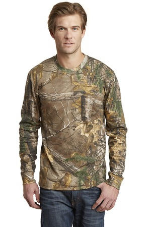 Russell Outdoors Realtree Long Sleeve Explorer 100% Cotton TShirt with Pocket. S020R