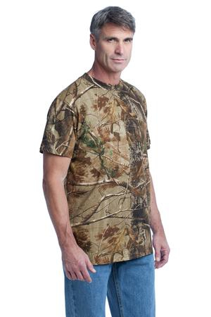 Russell Outdoors™  Realtree Explorer 100% Cotton TShirt with Pocket. S021R