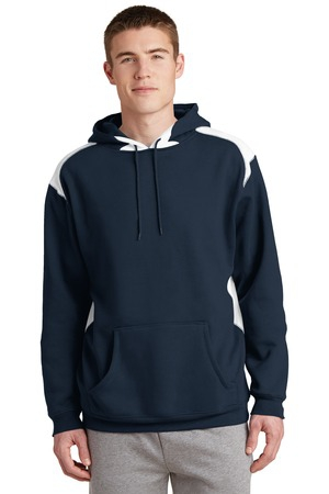 SportTek Pullover Hooded Sweatshirt with Contrast Color. F264