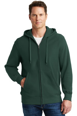 SportTek Super Heavyweight FullZip Hooded Sweatshirt.  F282