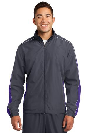 SportTek Piped Colorblock Wind Jacket. JST61
