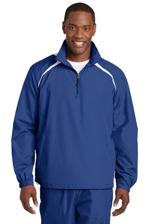 SportTek 1/2Zip Wind Shirt. JST75