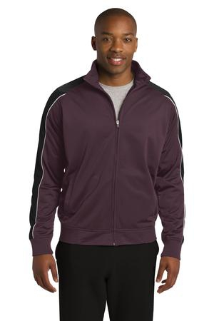 SportTek Piped Tricot Track Jacket. JST92