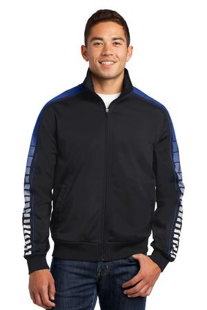 SportTek Dot Sublimation Tricot Track Jacket. JST93