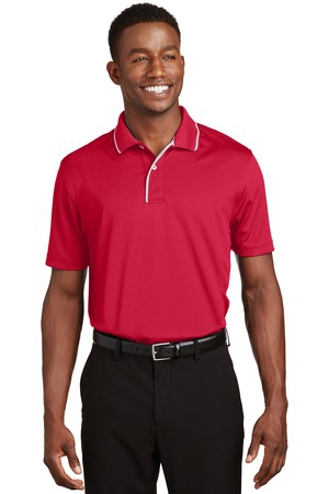 SportTek DriMesh Polo with Tipped Collar and Piping.  K467
