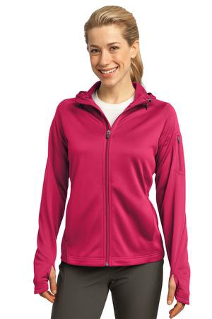SportTek Ladies Tech Fleece FullZip Hooded Jacket. L248