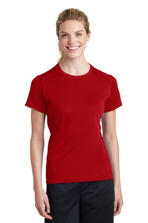 SportTek Ladies Dry Zone Raglan Accent TShirt. L473