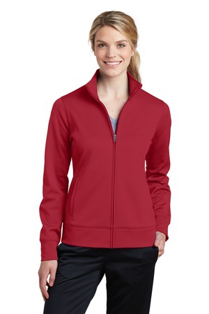 SportTek Ladies SportWick Fleece FullZip Jacket.  LST241