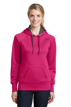 SportTek Ladies Tech Fleece Hooded Sweatshirt.  LST250