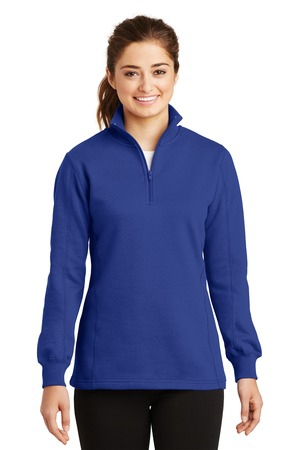 SportTek Ladies 1/4Zip Sweatshirt. LST253