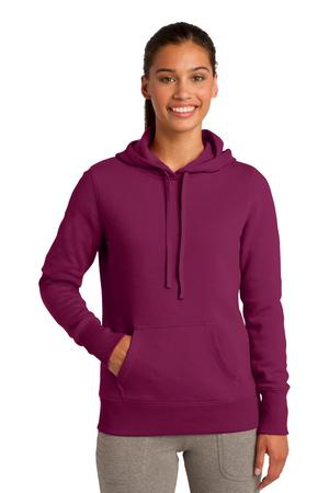 SportTek Ladies Pullover Hooded Sweatshirt. LST254