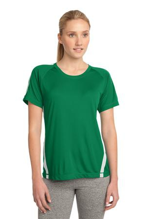 SportTek Ladies Colorblock PosiCharge Competitor Tee. LST351