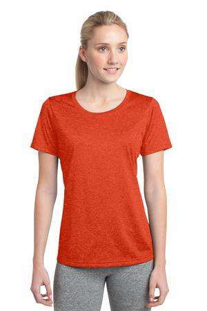 SportTek Ladies Heather Contender Scoop Neck Tee. LST360