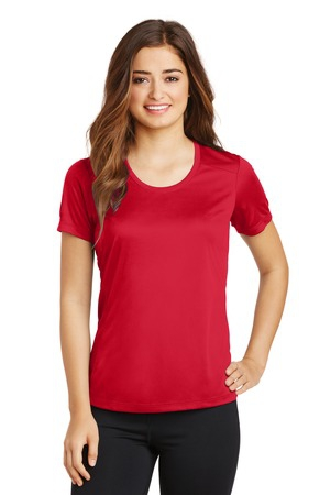 SportTek Ladies PosiCharge Elevate Scoop Neck Tee. LST380