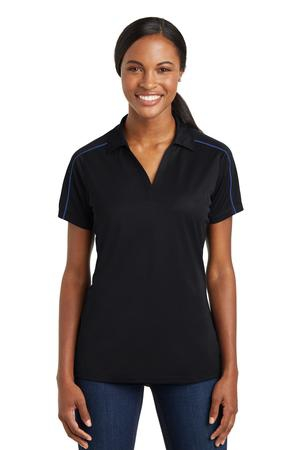 SportTek Ladies Micropique SportWick Piped Polo. LST653