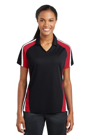 SportTek Ladies Tricolor Micropique SportWickPolo. LST654