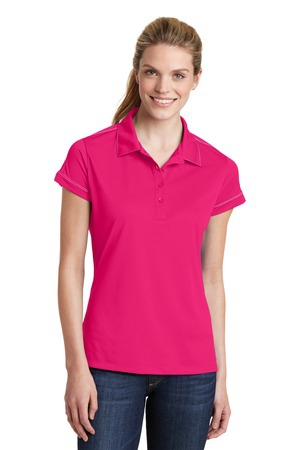 SportTek Ladies Contrast Stitch Micropique SportWick Polo. LST659