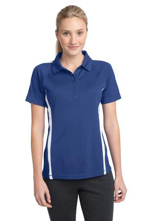 SportTek Ladies PosiCharge MicroMesh Colorblock Polo. LST685