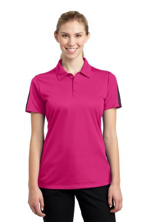 SportTek Ladies PosiCharge Active Textured Colorblock Polo. LST695