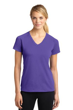 SportTek Ladies Ultimate Performance VNeck. LST700