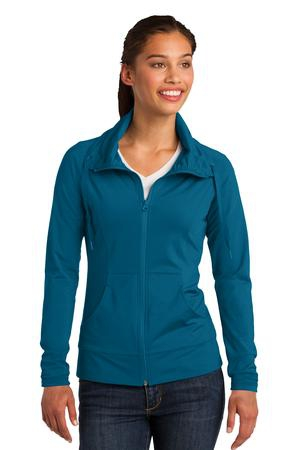 SportTek Ladies SportWick Stretch FullZip Jacket. LST852
