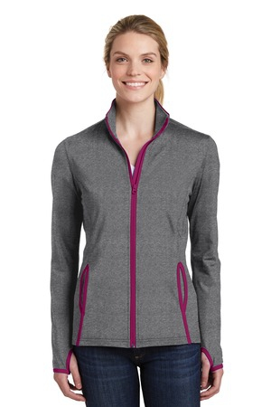 SportTek Ladies SportWick Stretch Contrast FullZip Jacket.  LST853