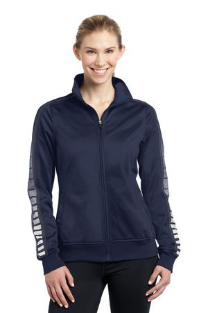 SportTek Ladies Dot Sublimation Tricot Track Jacket. LST93