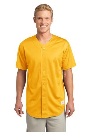 SportTek PosiCharge Tough Mesh FullButton Jersey. ST220