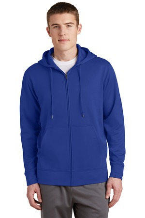 SportTek SportWick Fleece FullZip Hooded Jacket.  ST238